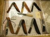 Damascenský nůž a čepele
